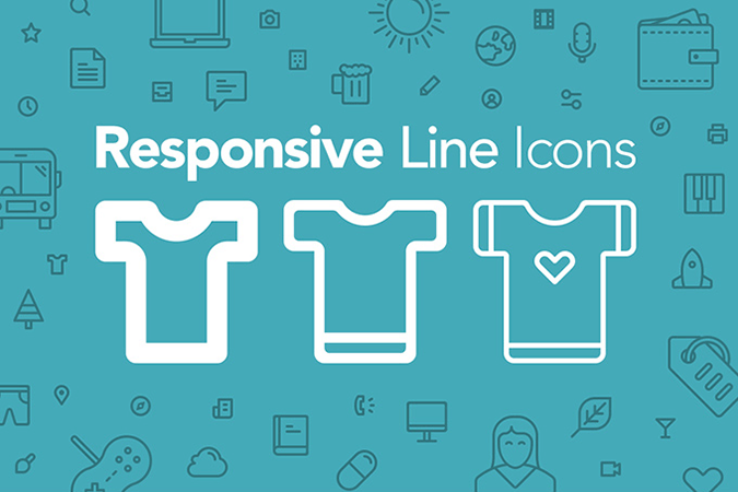 100-responsive-line-icons